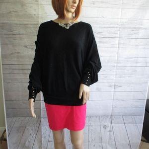 NWT - JOSEPH A. black sweater - sz M - MSRP $68.